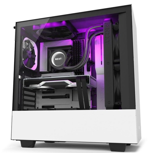 NZXT H510i compact Matte White Casing FREE HUE 2 RGB