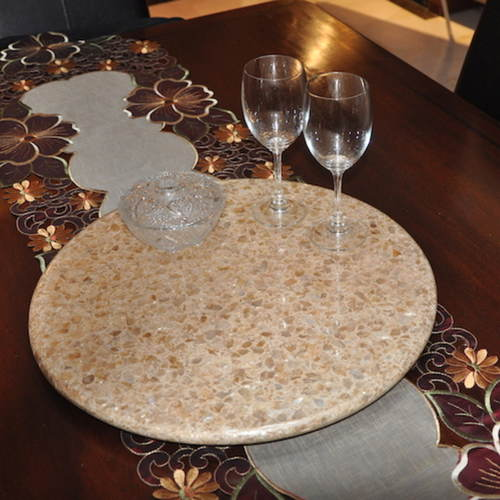 LAZY SUSAN MOTHER OF PEARL (50cm)