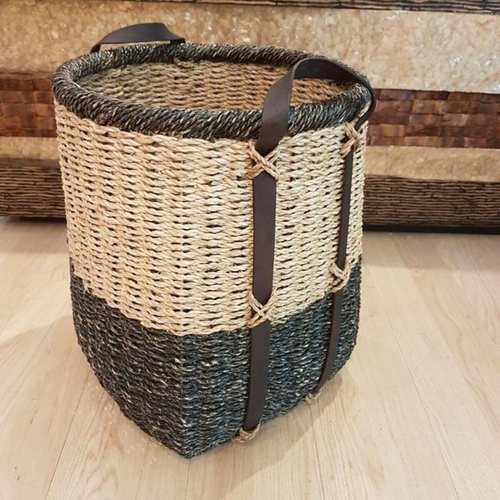 Darcelle Two Tone Bangkuang Rope Basket