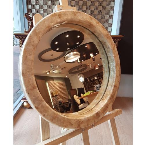 MOTHER-OF-PEARL SEA PEARL  50cm MIRROR