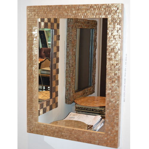 DIANA DRESSER MOTHER-OF-PEARL MIRROR