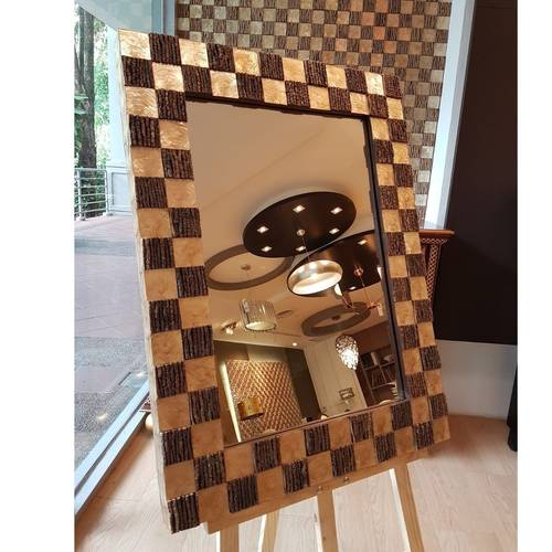 MARAUI  SQ50 MOTHER-OF-PEARL & COCO TWIGS MIRROR