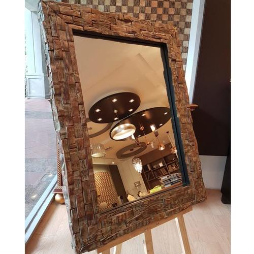 NIGEL 3 COCONUT BARK MIRROR