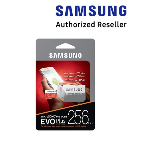[Pack of 5pcs] : Samsung EVO PLUS 256GB micro SDXC (Comes with SD Adapter)