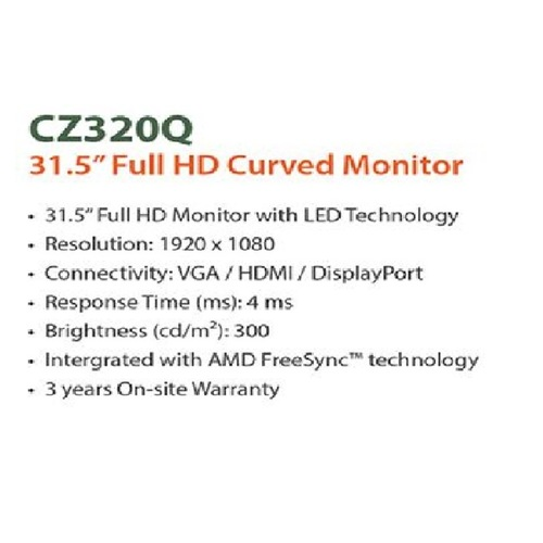 Acer 32-inches Curved Monitor (Model : CZ320Q)