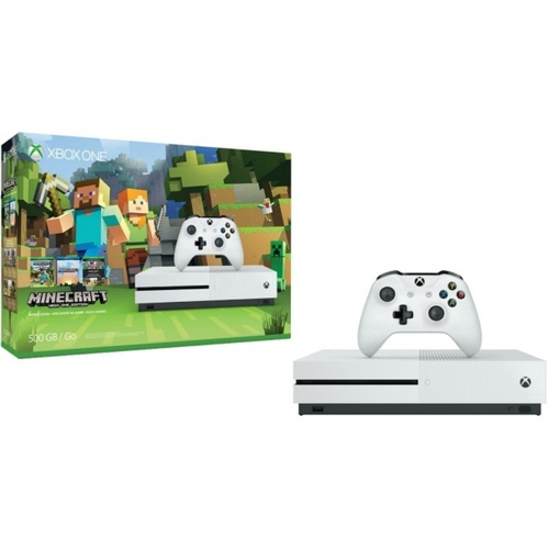 Microsoft XBox One S 500GB Console (Minecraft Bundle)