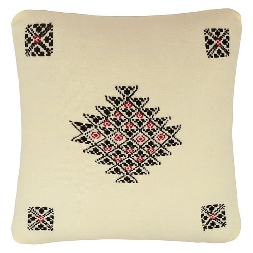 Toda Hand Embroidered Cushion Cover 16''