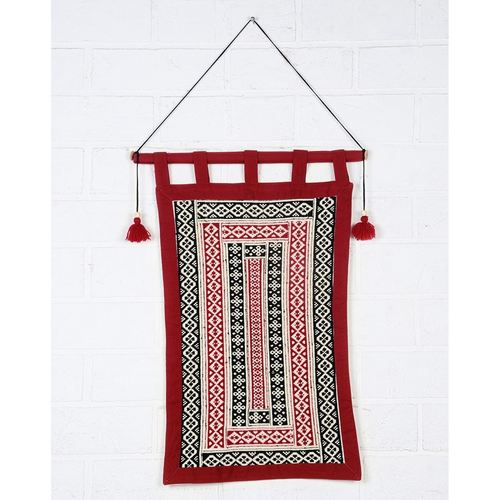 Toda Hand Embroidered Cotton Wall Hanging 25in x 18.5in
