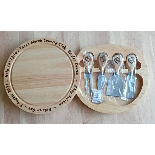 Personalized Cheese Board Set By Hand Done Pyrography Wood Burn - SMGWOOD002