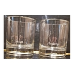 ENGRAVED PERSONALIZED PAIR OF WHISKEY GLASSES SET