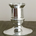 PAIR OF SILVER COLOUR CANDLEHOLDERS (PLASTIC)