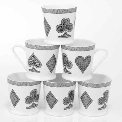 Cards Set of 6 Mugs