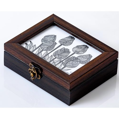 Small Wooden Box - Tulip