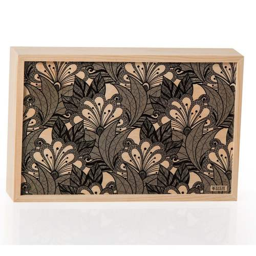Natural Wooden Slider Box Big- Garden Flowers