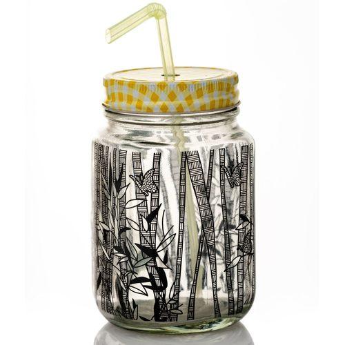 Bamboo Mason Jar