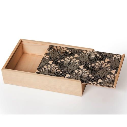 Natural Wooden Slider Box Big- Garden Flowers