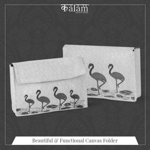 Flamingo Canvas Folder