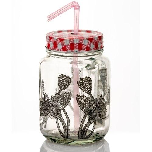Geo Flower Mason Jar
