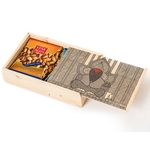 Natural Wooden Slider Box Big- Ganesh