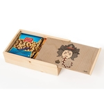 Natural Wooden Slider Box Big- Flower Ganesh