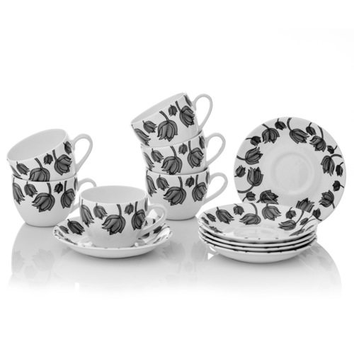 CUPS AND SAUCERS SET OF 6