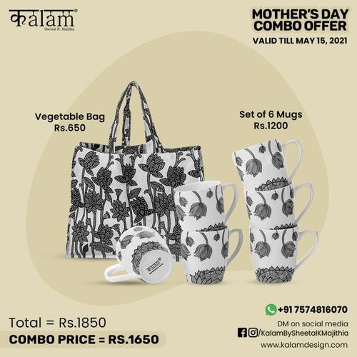 Vegetable Bag + Set of 6 Mugs