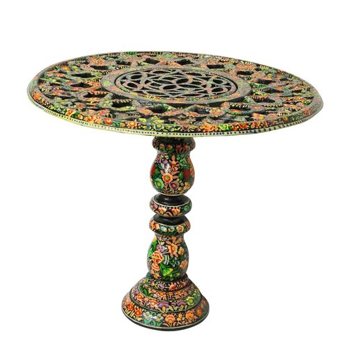 Ornate hand carved & hand painted coffee table