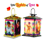 Little Lights of Love - Set of 2 (With Hanging wire, hooks and Yellow bulbs)