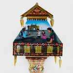 Hand Painted Lamp - Desi Diversity theme