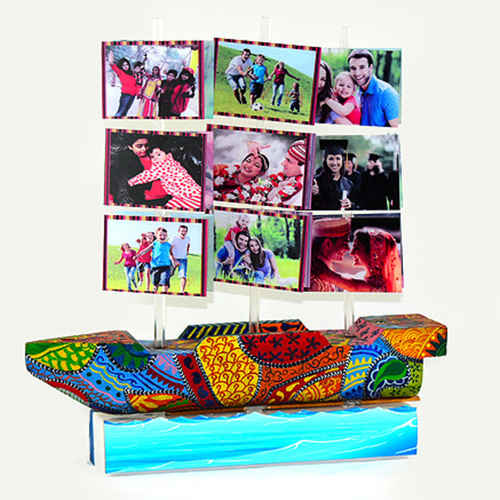 Personalized Sail Ship - Changeable Sail Panels