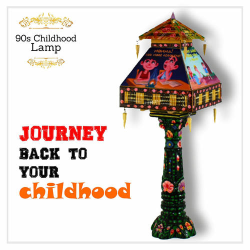 Hand Painted Lamp - 90s Childhood