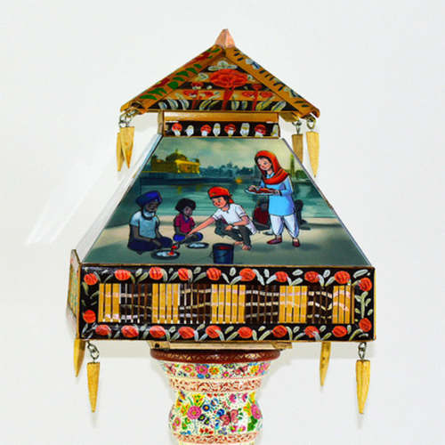 Hand Painted Lamp - Desi Diversity theme