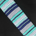 Different Shades of Blue Stripes Screen Print Crepe Fabric
