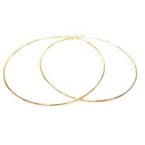 big celeb style hoops earring