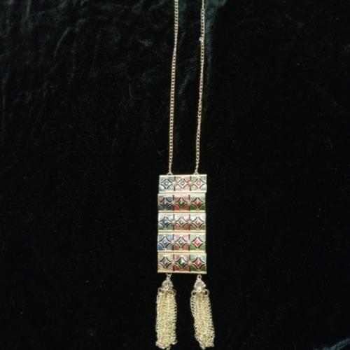 meenakari long chain necklace