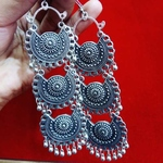 3 layer afghani earrings