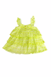 Baby Girl legging set with cardigan (Lime green)