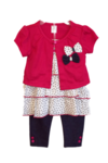 Baby legging set with cardigan