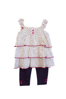 Baby legging set with cardigan