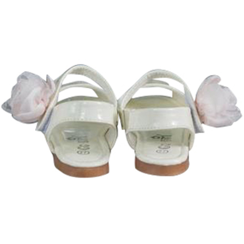 Girls White peep toe sandals
