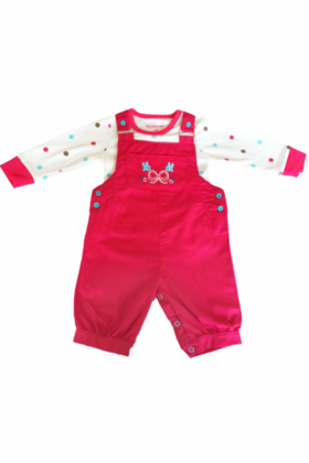 Baby Girl Pink Dungaree set