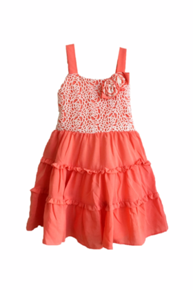 Coral Strappy Dress
