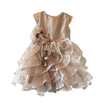 Girls party dress (Gold)