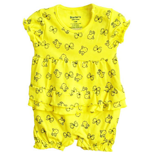 Baby Girl Romper (Yellow)