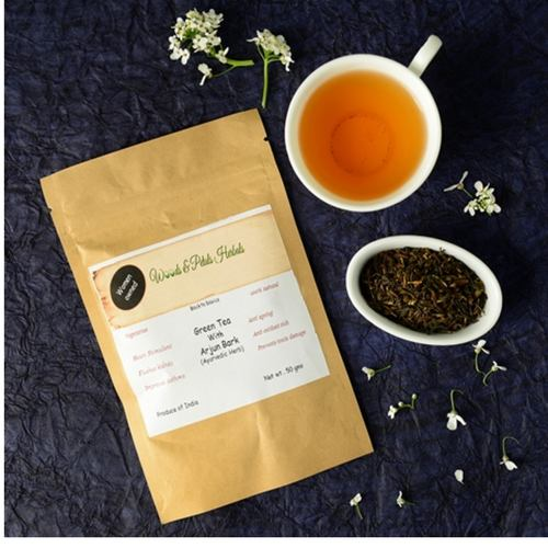 Darjeeling Green tea with Arjun bark ( ayurvedic herb )