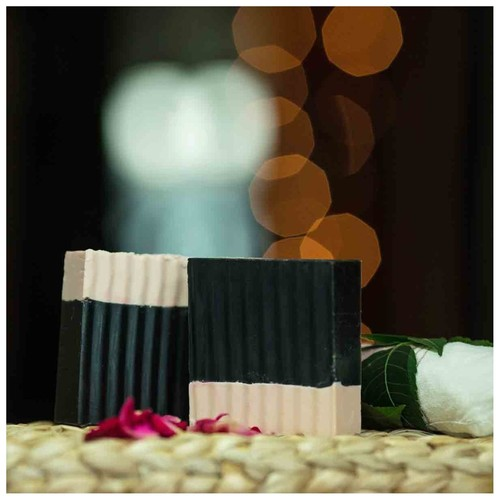 Bamboo wood Charcoal & Calamine clay soap ( set of 2 )