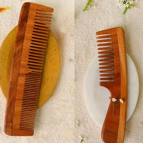Neem Wood Combs ( set of 2) I Eco Friendly I Vegan