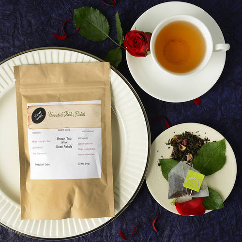 Darjeeling Green tea with Rose Petals ( Tea Bags )
