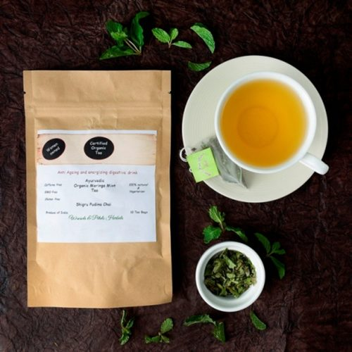 Organic Moringa Mint Tea  I Weight Loss I Anti depressant I Anti Oxidant Rich I Anti Aging