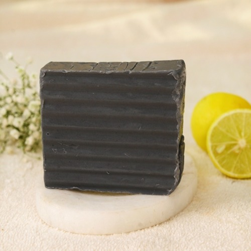 Real Charcoal Lemon Hand Crafted soap ( set of 3 )